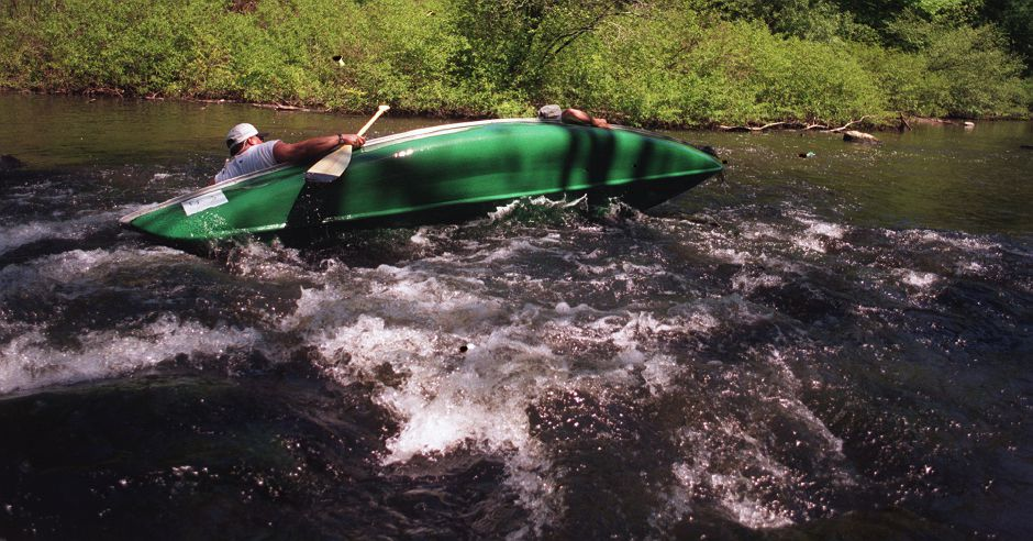 RJ file photo - Scenes from the Quinnipiac Down River Canoe Classic, May 16, 1999.