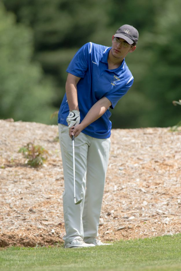 Wilcox Tech's Ryan Pellegrino had the medal round with a 42 Wednesday at Hunter Golf Course. He led the Indians to a city sweep of Maloney and Platt. | Justin Weekes / Special to the Record-Journal