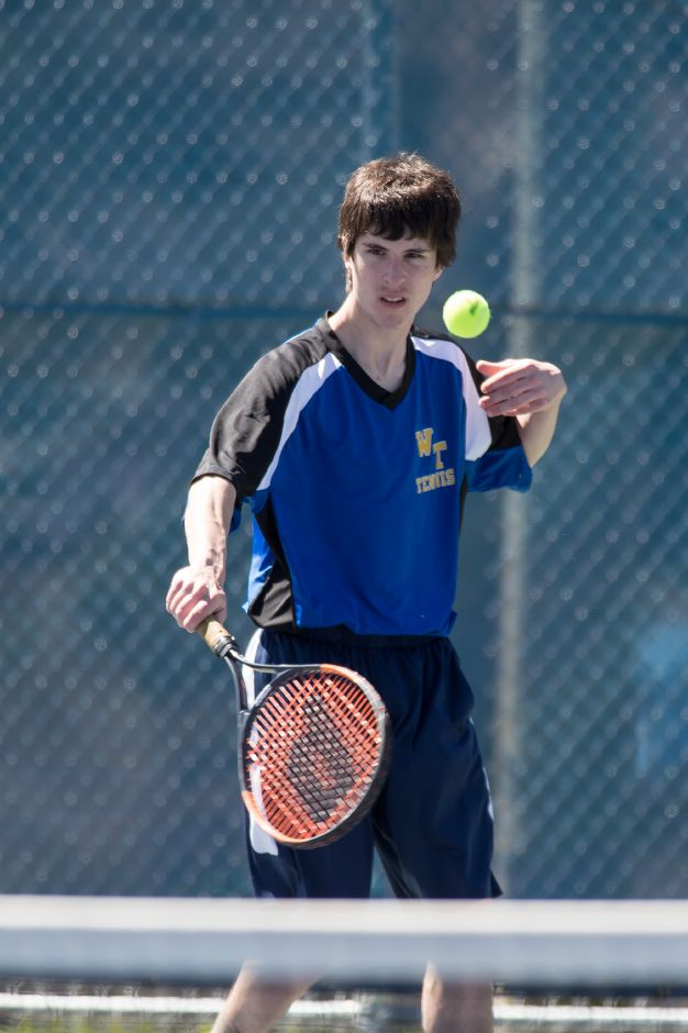 Wilcox Tech's Eric Wasman won a singles match Wednesday.