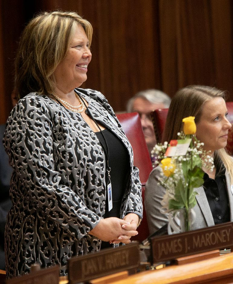 Sen. Mary Daugherty Abrams is recognized during opening day of the legislative session Jan. 9, 2019. | Dave Zajac, Record-Journal