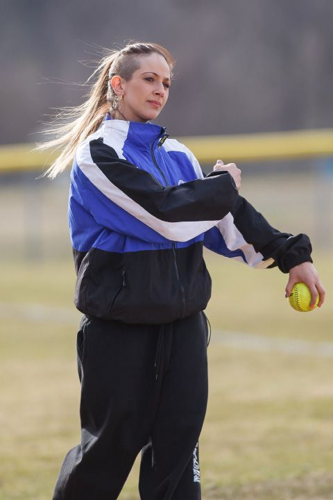 Head coach Davina Hernandez and her Southington softball team opened the 2018 season Monday with a 6-0 victory at home against Bristol Eastern. | Justin Weekes / Special to the Record-Journal