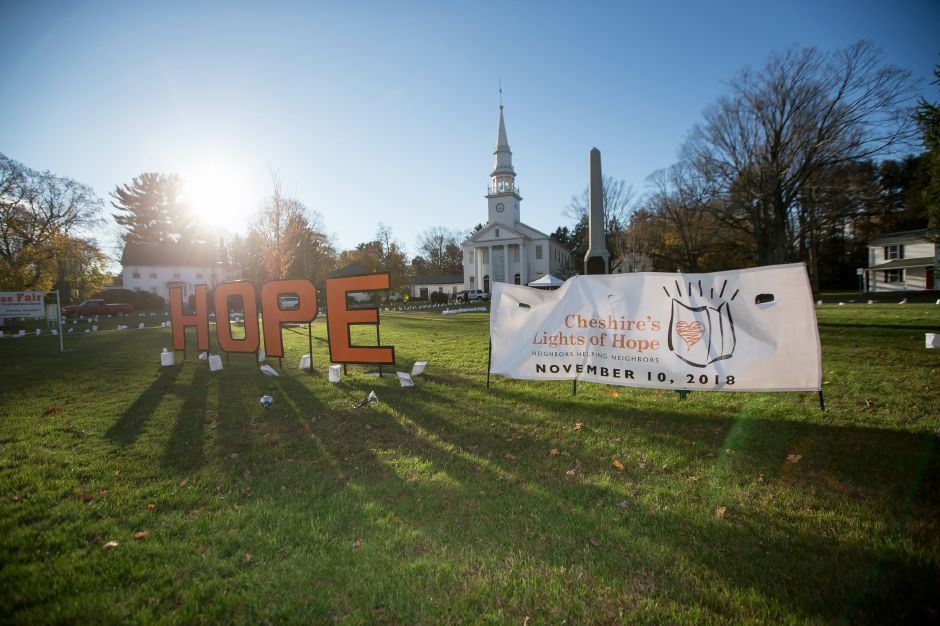 Saturday during the 14th Annual Cheshire Lights of Hope to raise money for local charities in Cheshire November 10, 2018 | Justin Weekes / Special to the Record-Journal