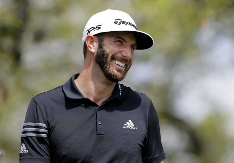 Dustin Johnson watches his shot from the first tee during round-robin play against Webb Simpson at the Dell Technologies Match Play golf tournament at Austin County Club, Wednesday, March 22, 2017, in Austin, Texas. (AP Photo/Eric Gay)