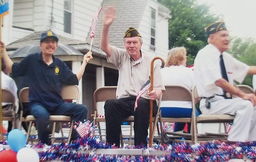 Plainville resident Mike Hall, center, photographed at the 2011 Memorial Day Parade. | Images courtesy of House of Heroes