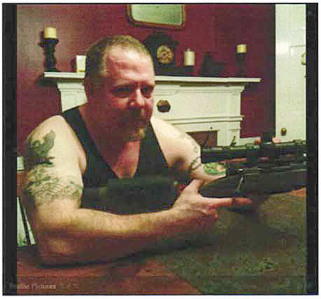 An image from the Facebook account of Ted Hakey Jr. in a federal affadavit charging him with firing shots into a Meriden mosque.