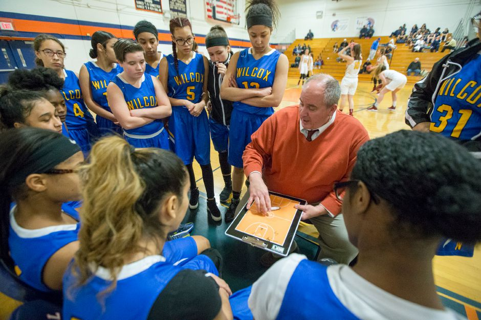 After spending the last three years as an assistant at Sheehan, veteran girls basketball coach Jim Ferraro has taken the head coaching job at Wilcox Tech. Ferraro, now 55, has been coaching high school or college basketball since age 21. | Justin Weekes / Special to the Record-Journal