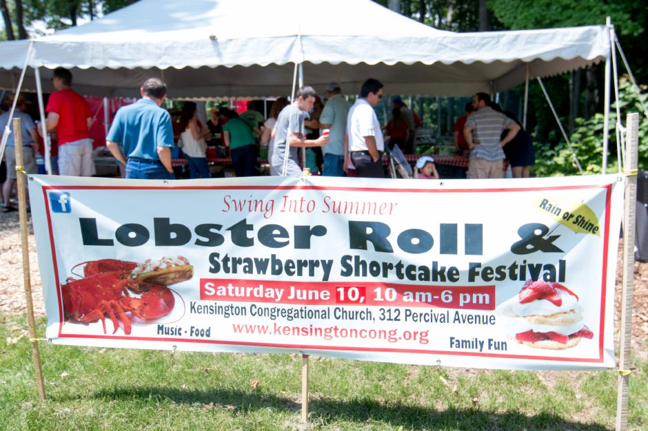 The lobster roll tent at Kensington Congregational Church's Festival on the Hill on June 10, 2017. | Devin Leith-Yessian/Record-Journal