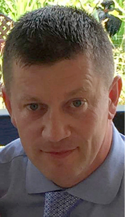 Undated handout photo released by Metropolitan Police on Wednesday, March 22, 2017 of police officer Keith Palmer who was killed during the attack on the Houses of Parliament in London. A knife-wielding man went on a deadly rampage in the heart of Britain