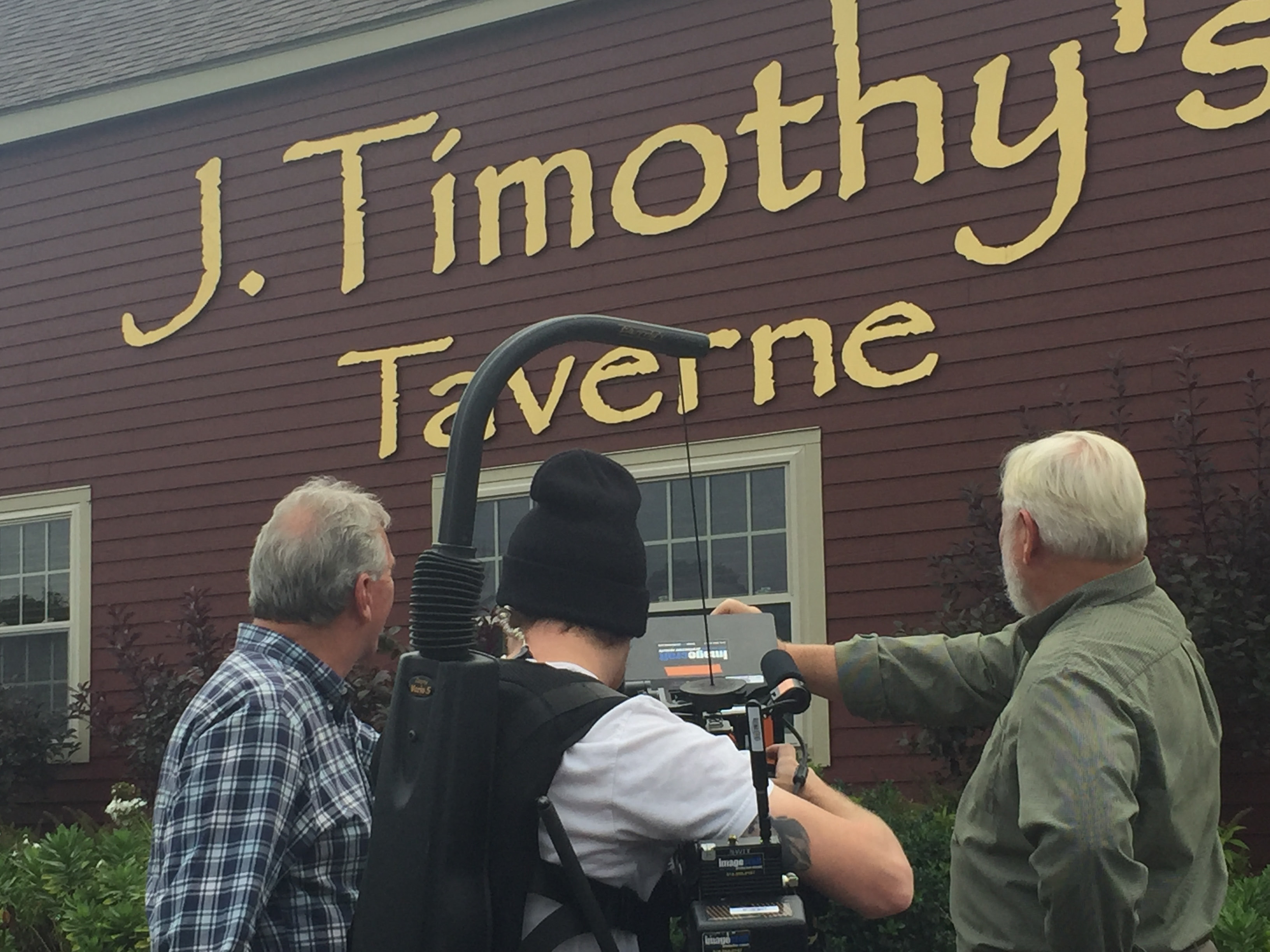 Owners Jim Welch and Tim Adams during filming for the Travel Channel