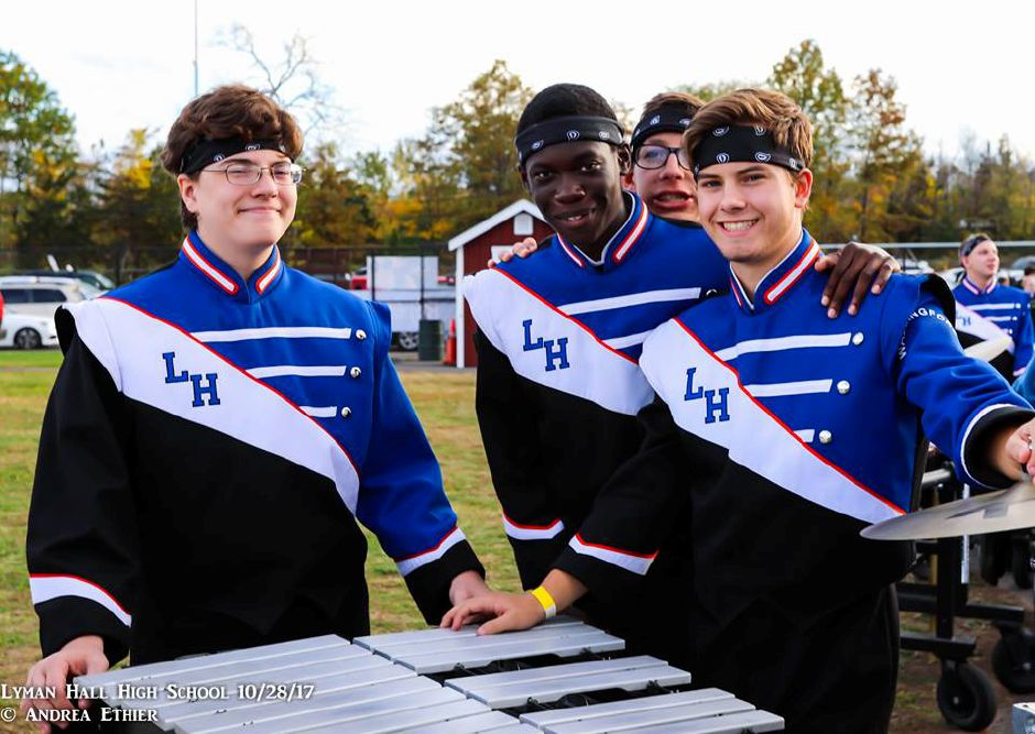 The Lyman Hall High School marching band performing on Oct. 28, 2017. | Photo Courtesy Andrea Steingisser Ethier