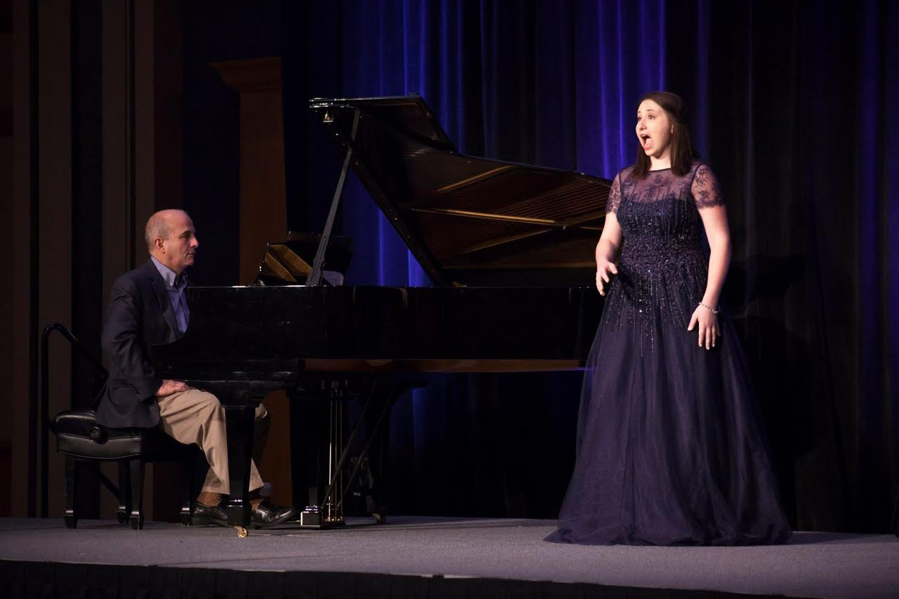 "Cheshire High School senior Alea Vernon performes ""Classical Singer"" convention finals earlier this year. 