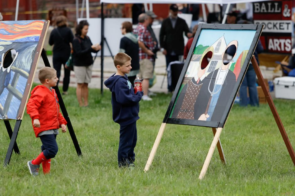 Ball and Socket arts fair Sunday during a Ribbon Cutting Ceremony for the Farmington Canal Heritage Trail on West Main in Cheshire September 9, 2018 | Justin Weekes / Special to the Record-Journal