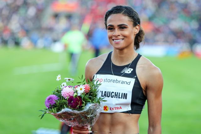 Sydney McLaughlin poses after winning the women's 400m hurdles event at the IAAF Diamond League athletics competition in Oslo, Norway, in June. Associated Press