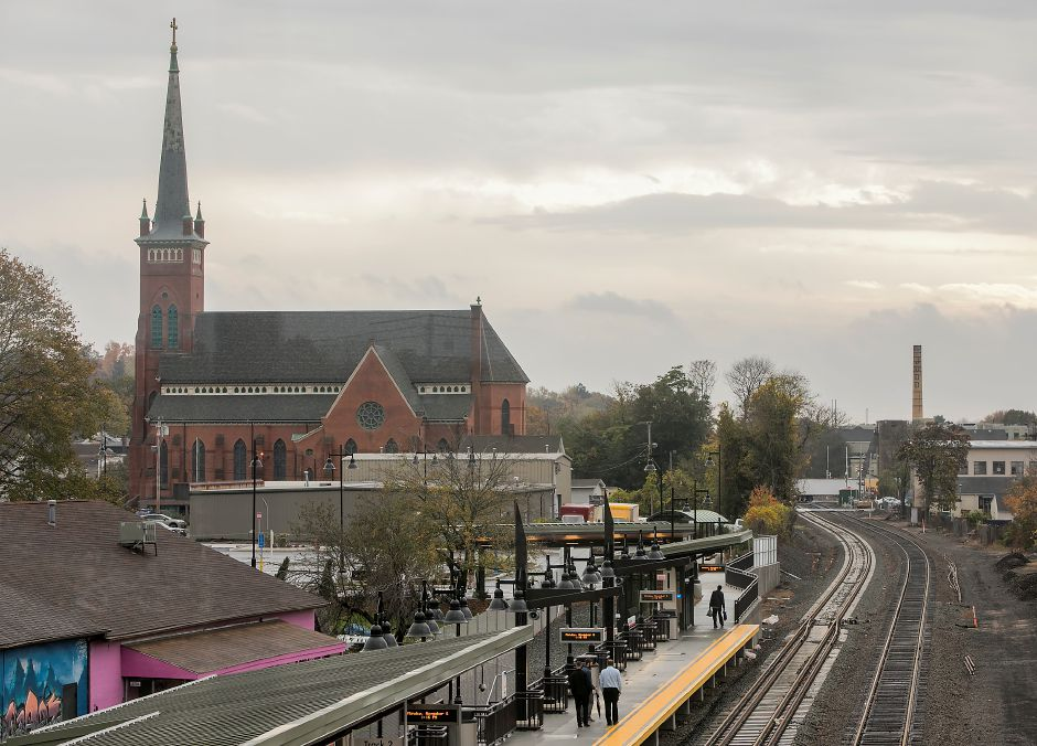 View looking south from the bridge of the new Wallingford train station, Monday, Nov. 6, 2017. | Dave Zajac, Record-Journal