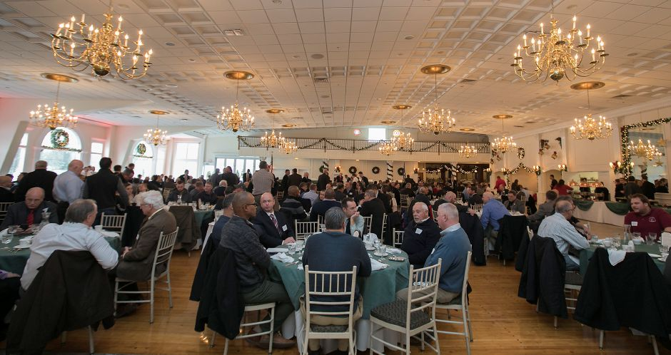 Attendees confer during the Connecticut Construction Industries Association forum at the Aqua Turf in Southington, Friday, Dec. 15, 2017. Ten Republican gubernatorial candidates shared their positions on state finances, budget, transportation, economic growth and Connecticut's decline at the forum. Dave Zajac, Record-Journal