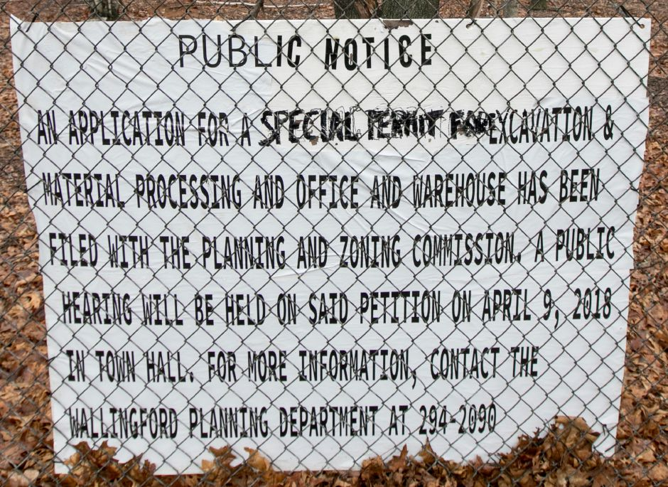 Property south of Allnex off Toelles Rd. in Wallingford, Wednesday, April 4, 2018. Allnex has applied for a special permit for excavation and material processing and warehouse on the property. Dave Zajac, Record-Journal