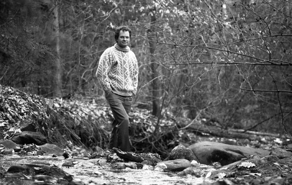 RJ file photo - Wallingford Land Trust President Ken Daly says one more weekend is needed to clear and mark trails at the 67-acre Spruce Glen Jan. 2, 1989.
