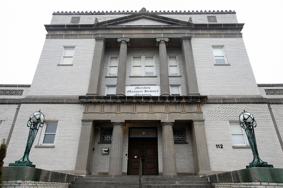 The Meriden Masonic Temple at 112 E. Main St. in Meriden, seen in January. File photo, Record-Journal