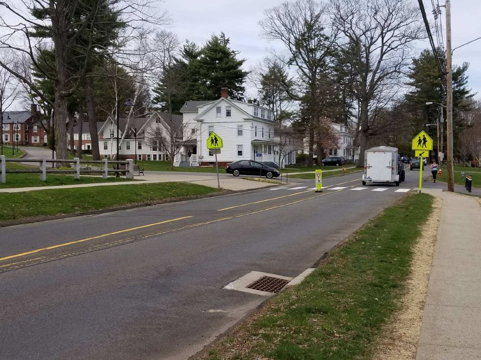 A Choate Rosemary Hall student was taken to the hospital after being struck by a car on the school's campus Tuesday afternoon. | Devin Leith-Yessian, Record-Journal
