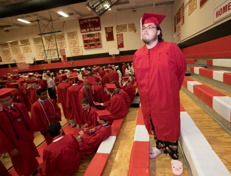 Graduate Ryan Clements dons his mom