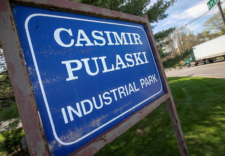 Casimir Pulaski Industrial Park on North Plains Industrial Road in Wallingford, Thurs., Apr. 25, 2019. The Revolutionary War hero credited with saving George Washington's life may have been female, or intersex, according to recent studies. Dave Zajac, Record-Journal