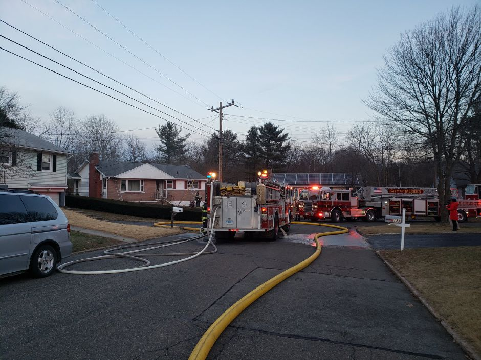 Firefighters are responding to a fire at a Belvedere Drive home. | Lauren Sellew, Record-Journal
