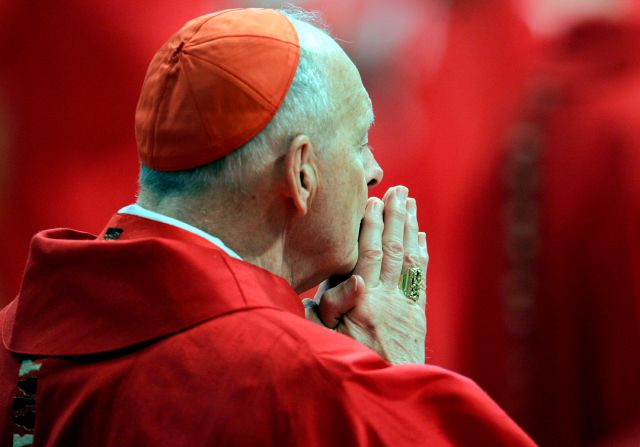 FILE - In this Monday, April 18, 2005 file photo, U.S. Cardinal Theodore Edgar McCarrick attends a Mass in St. Peter