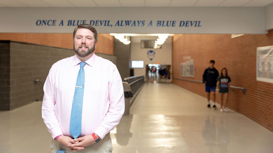 Carl Johnson, Plainville High School's new principal. | Devin Leith-Yessian, The Citizen