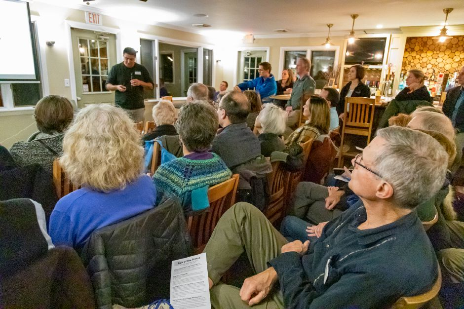 The fifth annual CVEF Talk of the Towns event, held Nov. 15 at Indian Springs Golf Course in Middlefield, welcomed four speakers and a crowd of more than 100.