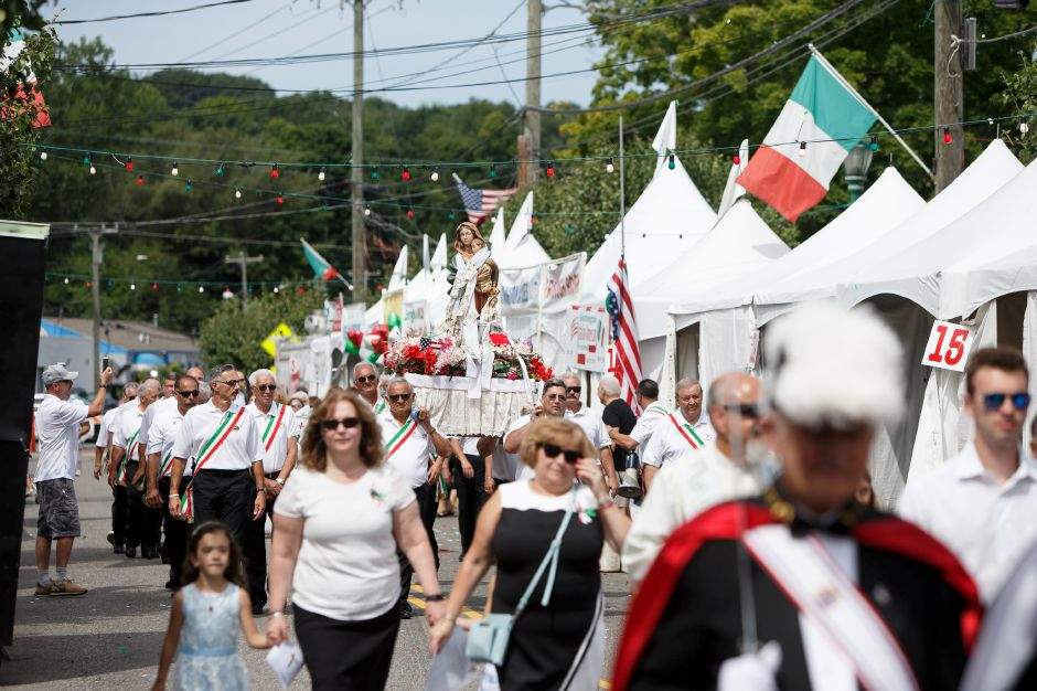 Sunday during an outdoor mass in celebration of the Italian Festival in Southington July 29, 2018 | Justin Weekes / Special to the Record-Journal