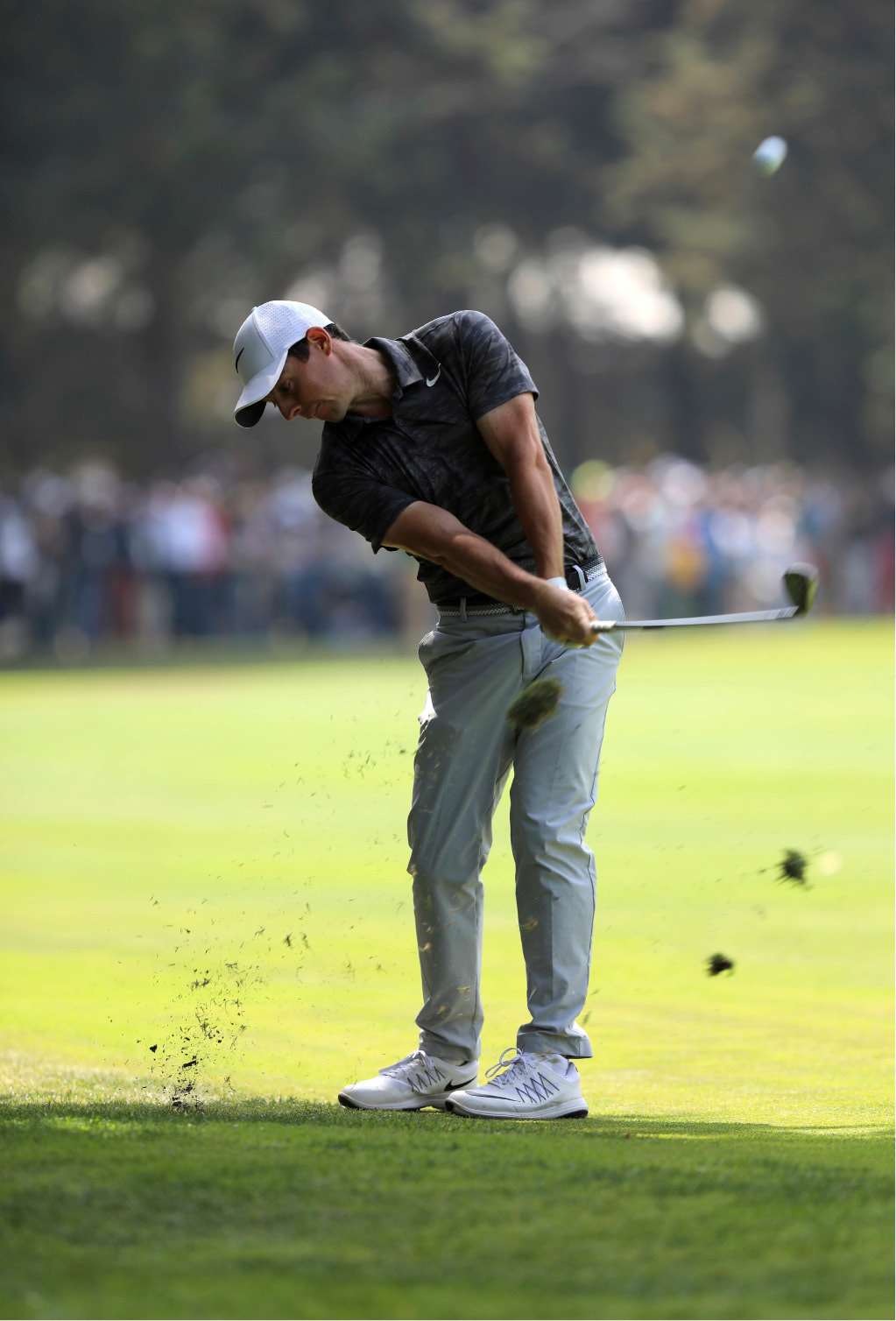 Rory McIlroy, of Northern Ireland, hits the ball on the 4th hole during the final round of the Mexico Championship at Chapultepec Golf Club in Mexico City, Sunday, March 5, 2017. All but one of the world
