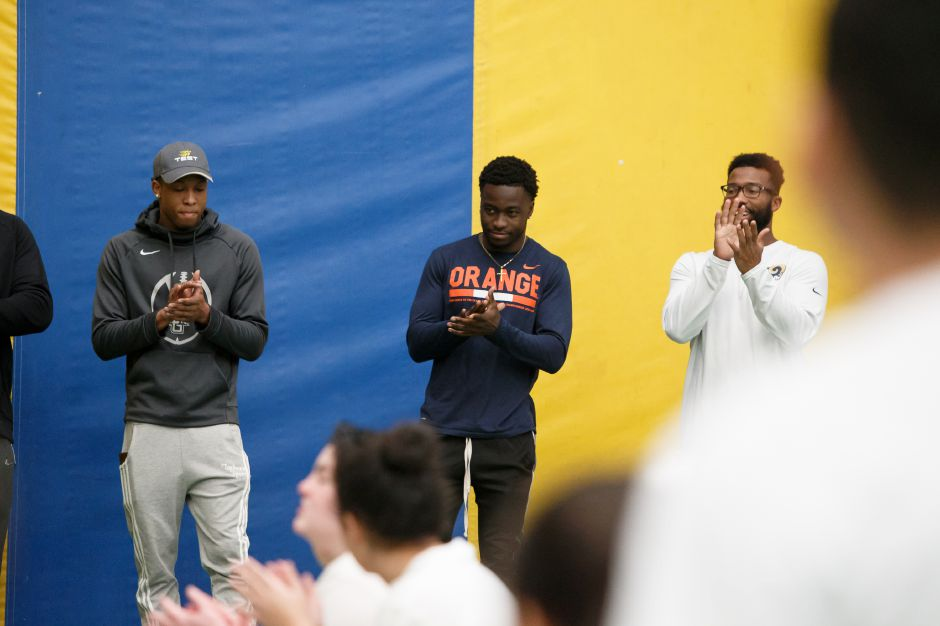 Saturday during the United Way NFL weekend kids camp at Choate Rosemary Hall in Wallingford March 10, 2018 | Justin Weekes / Special to the Record-Journal