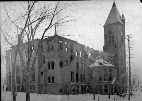 File photo - Meriden Town Hall, after the 1904 fire.