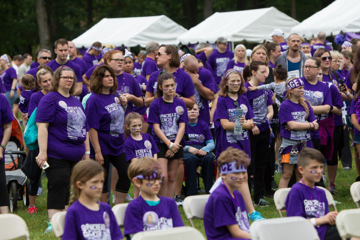Saturday during the PurpleStride 5k and walk fundraiser for Pancreatic Cancer Action Network at Hubbard Park in Meriden Jun. 17, 2017 | Justin Weekes / For the Record-Journal