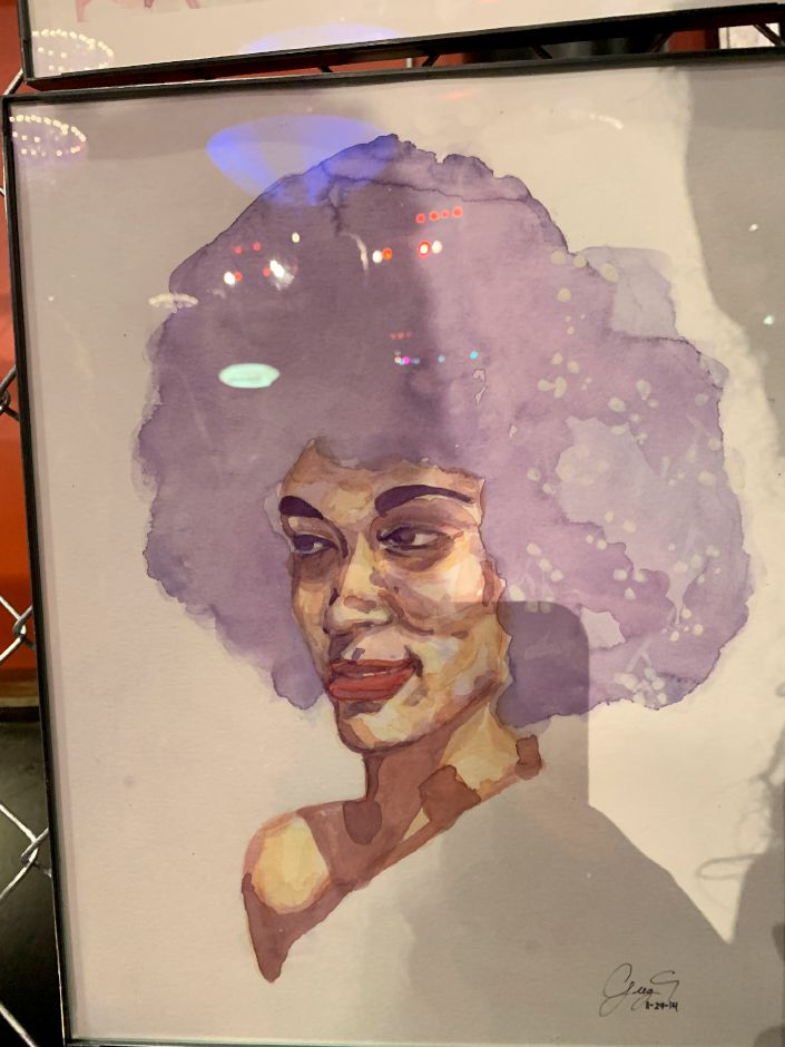 Art by Greg Aime, of Bridgeport, on display at a RAW Connecticut event on Wednesday. Around 40 artists, most from Connecticut, gathered at the Oakdale Theater in Wallingford Wednesday, August 21, 2019, for an annual RAW Artists event. The artists, which varied from painters to makeup artists and photographers, showcased their art in booths, and performers took the main stage. | Bailey Wright, Record-Journal