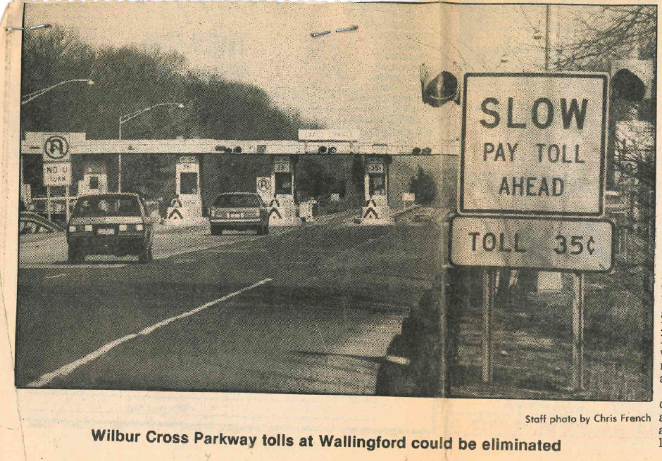 Wilbur Cross Parkway tolls. | Record-Journal archives
