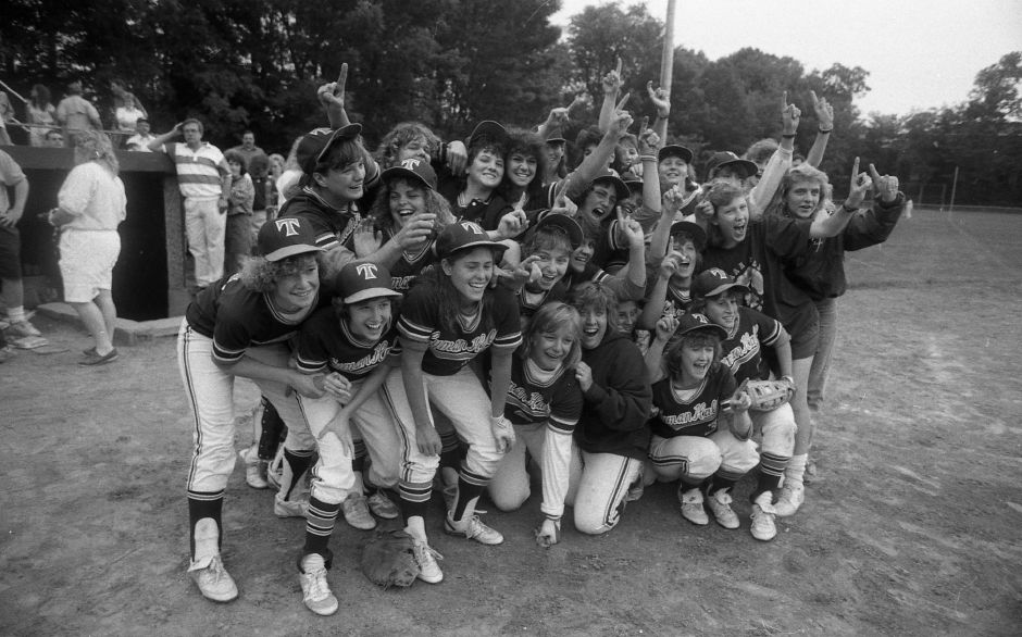 RJ file photo - Lyman Hall wins the Class L title, June 12, 1989.
