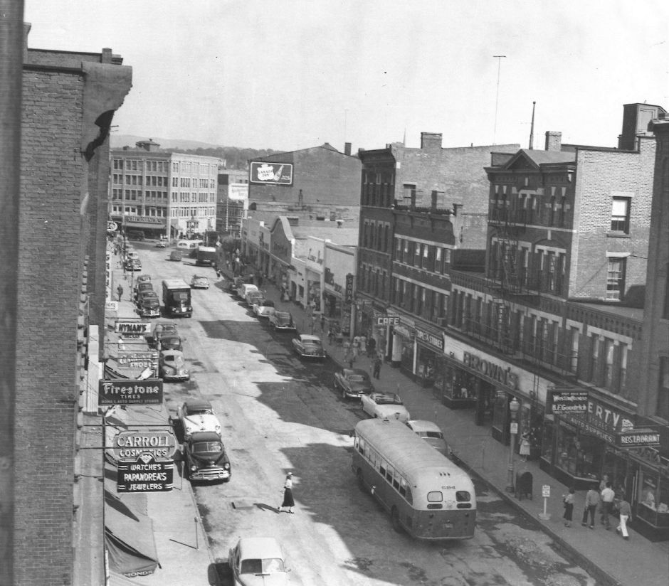West Main Street in Meriden. 1955.