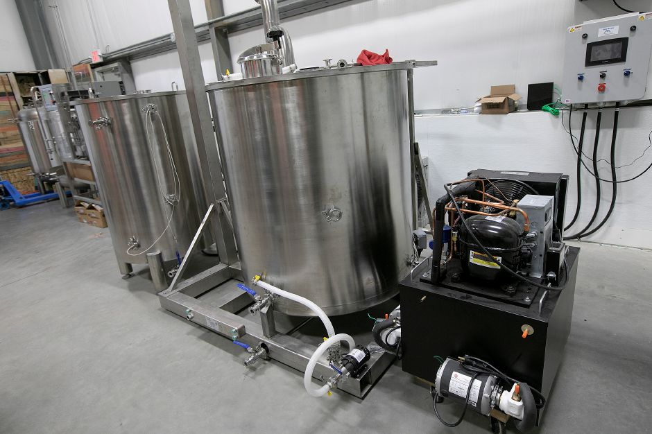 Brewing equipment at Skygazer, a new brewery nearing completion on Triano Drive in Southington, Thurs. Dec. 6, 2018. Owners Taylor Pilewski of Wallingford and Erik Tynik of Bristol said they'll focus on brewing and have a small tasting area rather than attempt the brew pub business model. Dave Zajac, Record-Journal