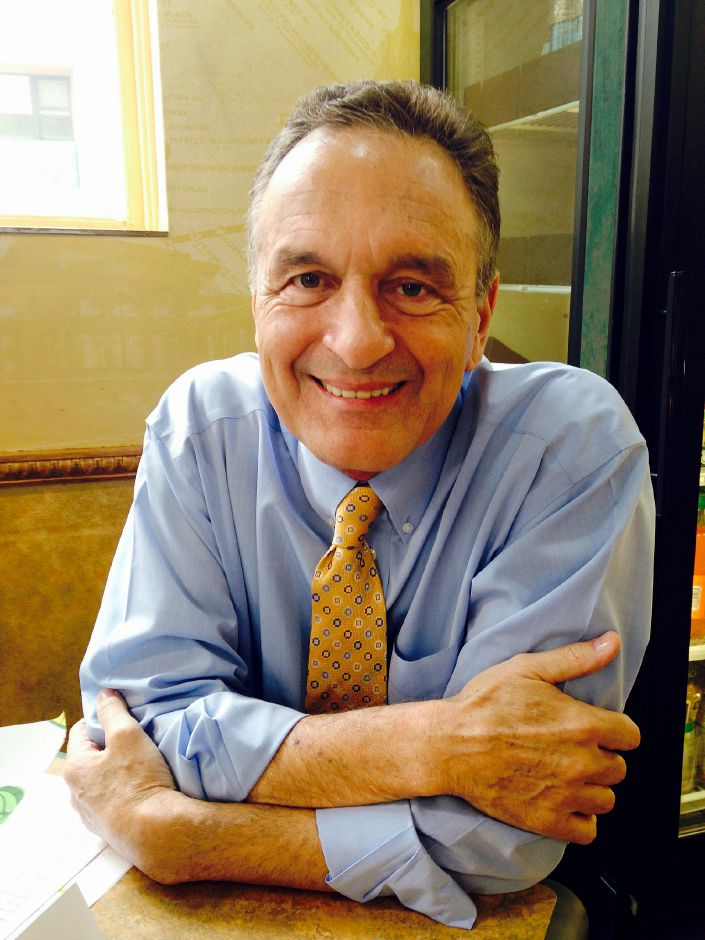 In this May 16, 2014 photo Subway co-founder Fred DeLuca poses for a photo at a Subway restaurant in New York. DeLuca died Monday evening, Sept. 14, 2015, after being diagnosed with leukemia two years ago, the company said Tuesday. He was 67. (AP Photo/Candice Choi)