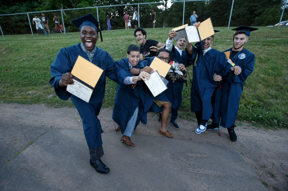 Friday during the Platt High School Commencement ceremony at Platt High School in Meriden June 15, 2018 | Justin Weekes / Special to the Record-Journal