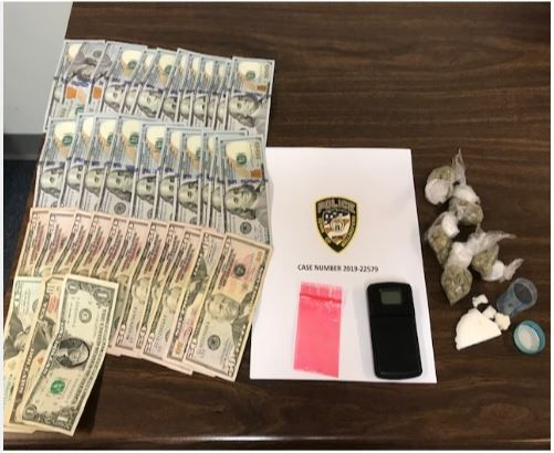 Items seized during a traffic stop on Saturday, July 13, 2019 (Courtesy of the Wallingford Police Department)