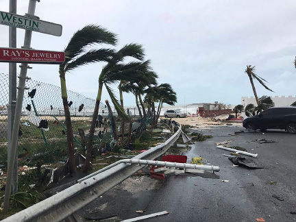 This Sept. 6, 2017 photo shows storm damage in the aftermath of Hurricane Irma, in St. Martin. Irma cut a path of devastation across the northern Caribbean, leaving thousands homeless after destroying buildings and uprooting trees. Significant damage was reported on the island known as St. Martin in English which is divided between French Saint-Martin and Dutch Sint Maarten. (Jonathan Falwell via AP)