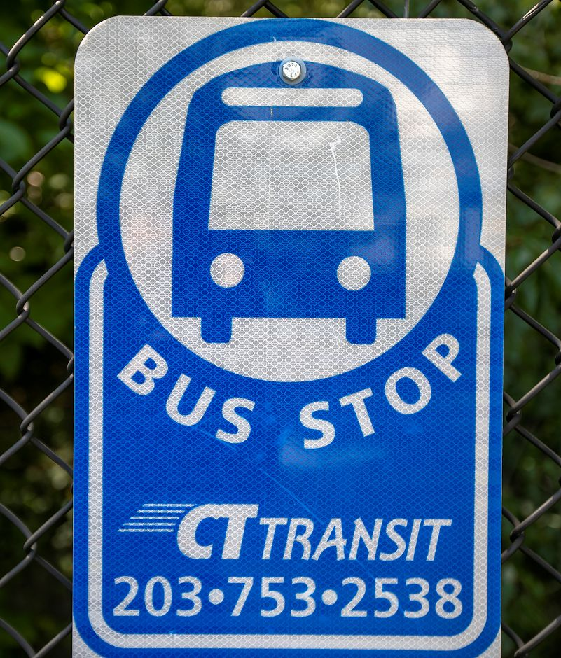 A CTtransit bus stop at the Westfield Meriden shopping mall in Meriden, Thursday, August 9, 2018. Dave Zajac, Record-Journal