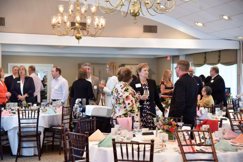 Community members and business people gather at the Quinnipiac Chamber of Commerce annual awards dinner at Farms Country Club in Wallingford on June 12, 2019. | Bailey Wright, Record-Journal