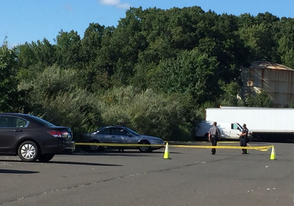 A police investigation is underway in the parking lot of Bob's Stores and Eastern Mountain Sports.