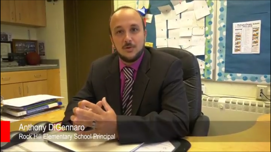 Former Rock Hill Principal Anthony DiGennaro is seen in a video interview with the Record-Journal in August 2017.
