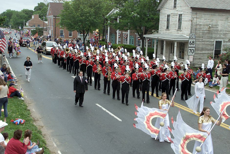 The Cheshire High School Marching Ram Band was among the the highlights of Sunday afternoon