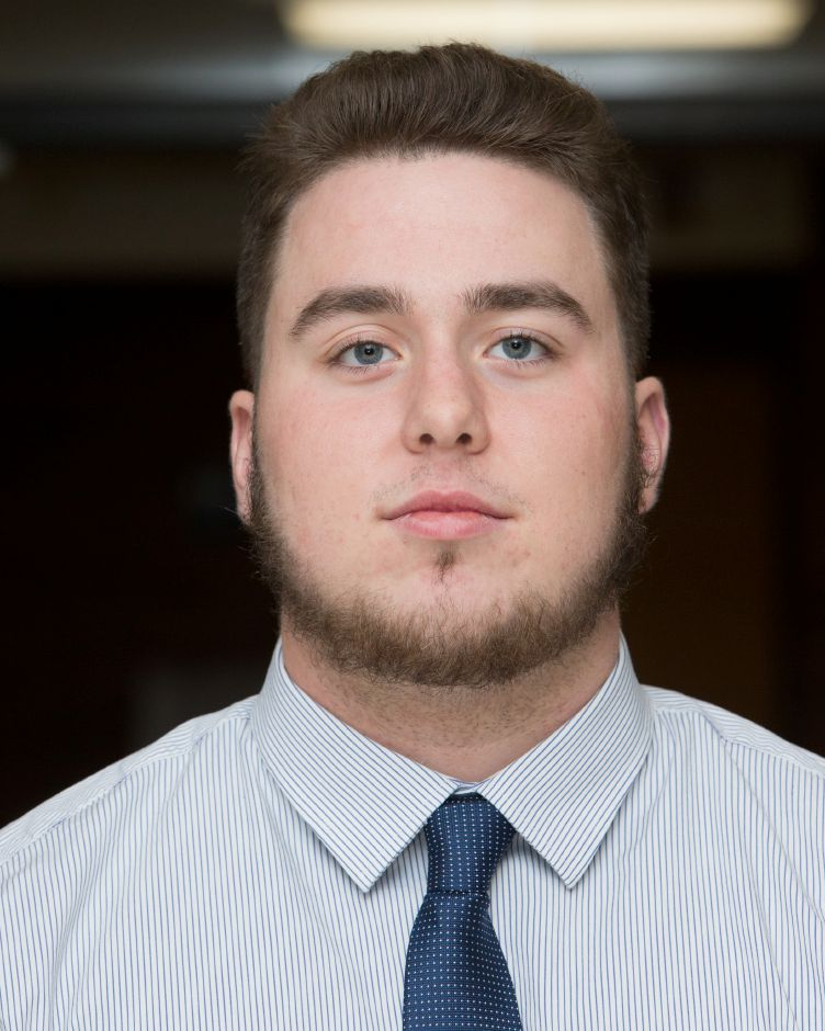 Southington senior football captain and offensive lineman Owen Bouchard was one of 13 scholar-athletes named by the Northern Chapter of the National Football Foundation. | Justin Weekes / Special to the Record-Journal