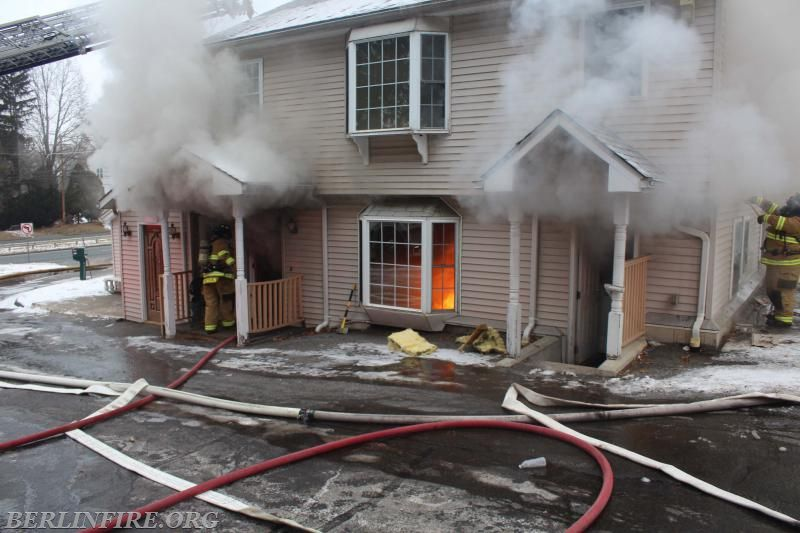 Fire at the Mount Royal Inn in Berlin, Saturday, Dec. 30. |Courtesy of Berlin FD